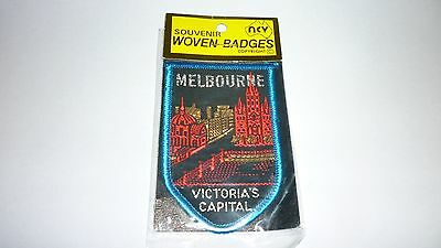 Melbourne Victorias Capital Souvenir Woven Badges New In Package