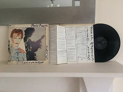 David Bowie Scary Monsters UK Press Vinyl LP and Fold Out Lyric Insert.