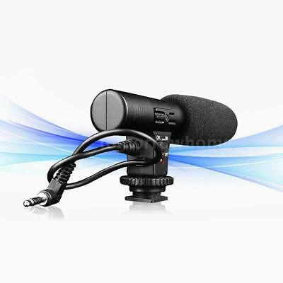 Sidande Shoe Mount On Camera Stereo Audio Video Recording Microphone Mic PC Y9P5