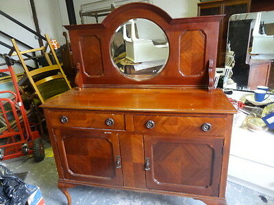 Edwardian mahogany mirror back sideboard