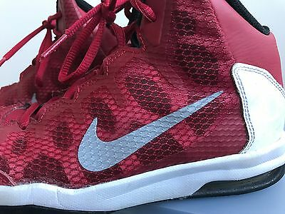 Boys Nike Zoom Red Basketball Shoes, Size Us 5 Good Condition!!!
