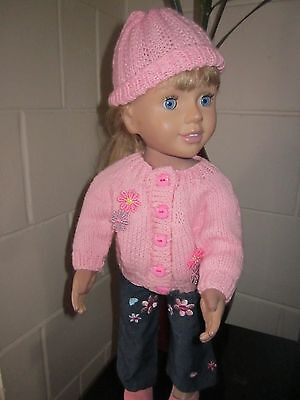 Pink Cardi Jeans Hat And Shoes