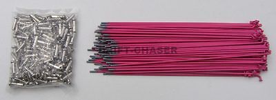 36 Piece Pink Bicycle Spokes for 20 inch Bmx Bike Wheels, 14g x 184mm Long