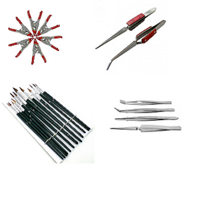 Precision Craft Hobby Tool Kit Tweezers Clamps Brushes Airfix Model Makers UK