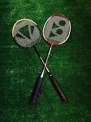 2 X Badminton Racket  Restringing Service  Restrings Restrung New Season Deal