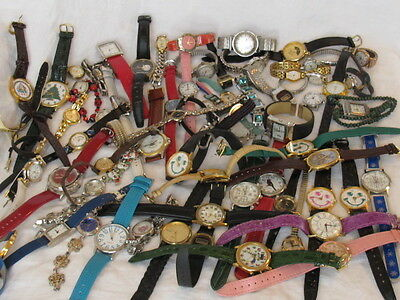 Huge Estate LOT of Watches Watch As-is All need battery or untested