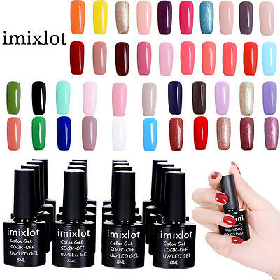 imixlot@ Esmalte de Uña de Gel UV LED Semipermanente Soak off Manicura 8ml