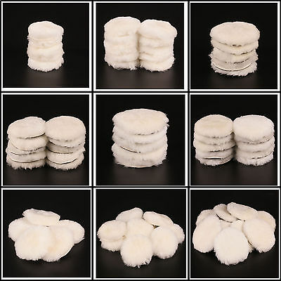 """1-10Pcs (3""""-7"""") Woolen Car Polishing Buffing Pad Kit for Care Cleaning Polisher"""