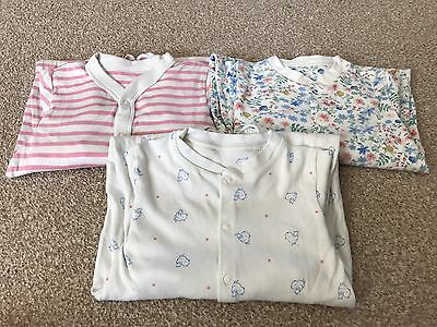 Girls M&S Sleepsuits 9-12 Months