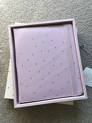 New Kikki.k Leather iPad Air Holder Cover Case With A5 Notepad Violet Gift Idea