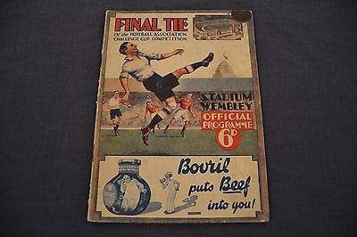 1932 FA CUP FINAL Programme Newcastle United v Arsenal ORIGINAL!! Exc. Cond.