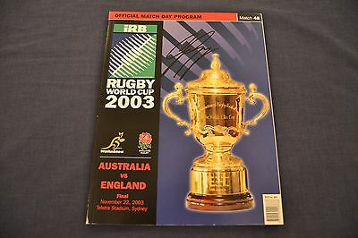 2003 Rugby World Cup Final Programme England v Australia Signed by George Gregan