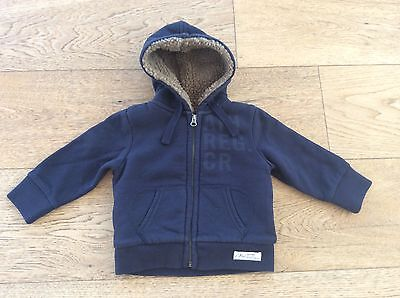 Country Road Baby Boy Fur Lined Navy Sweat - Size 3-6 Months - NWT