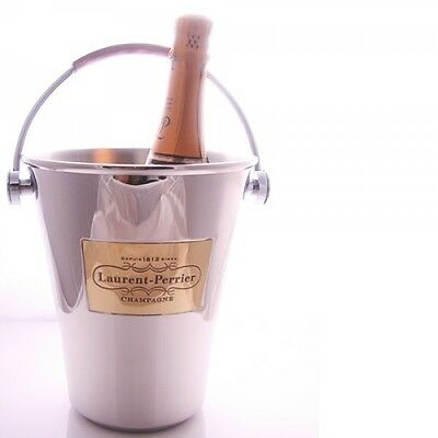 Laurent Perrier Champagne Bucket Cooler Unused New Leather Handle