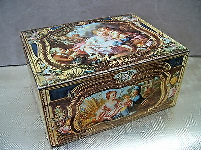 Tin box. Reproduction of French Snuff Box. Courtesy of V & A Museum