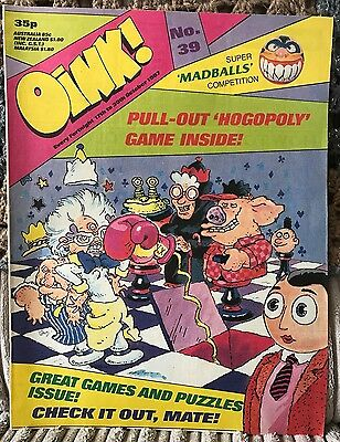 Oink! #39 - Games And Puzzles Special *classic British Humour Comic*