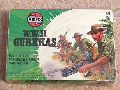 Set of 14 AIRFIX WWll Gurkhas Soldiers 1:32 Scale Boxed