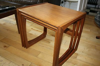 Vintage G Plan Nest Of Three Tables Red Label Mid Century