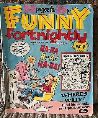 Funny Fortnightly - Premiere Issue! *classic Ipc/fleetway Comic Strips*