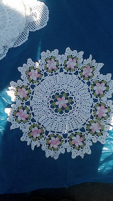 Antique tablecloth hand embroidery for antique vases