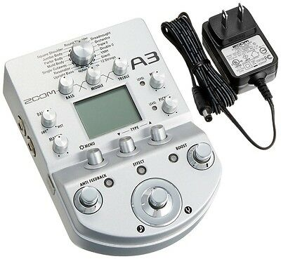 Zoom A3 Pre-Amp & Effects for Acoustic Guitar New Free Shipping with Tracking