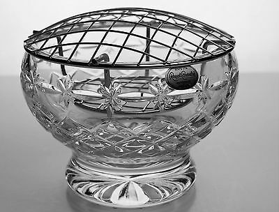 Royal Brierley Large Cut Glass Crystal Rose Bowl - New Condition - Stunning