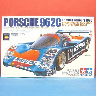 Tamiya 1/24 Porsche 962C Le Mans 24 Hours 1990 Model Kit #24313