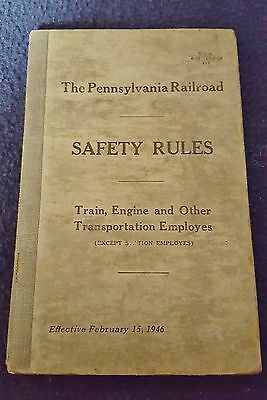 1946 PRR Safety Rules Transportation Employees *258