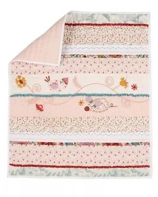 Mamas & Papas Made With Love Patchwork Crib Size Bedding Cover Quilt Decoration