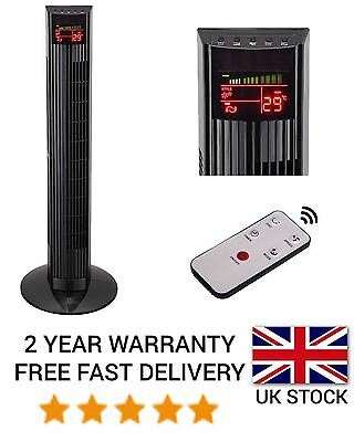 91cm OSCILLATING TOWER FAN STANDING COOLING REMOTE CONTROL DIGITAL DISPLAY