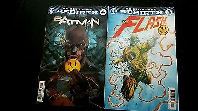 Batman #21 & Flash #21 lenticular button variants LAST 3
