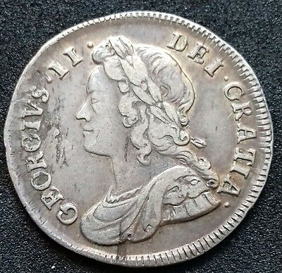 1735 Fourpence. S.3712A. George 11 Fourpence. Some Lustre Remaining.
