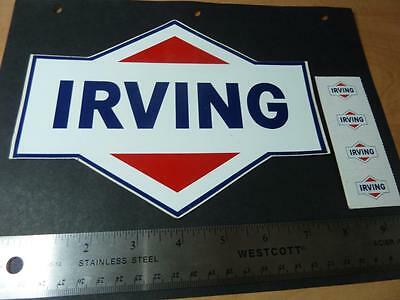 ORIGINAL 1970's 5 X IRVING PETROLIUM STICKERS