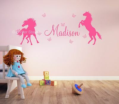 Horse Girls Personalised Any Name Wall Art Mural Decal Sticker