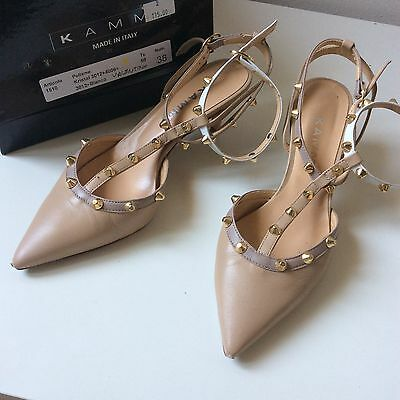 Slingback modello Rockstud Scarpe Made in Italy N 38 Leather Shoes vera Pelle