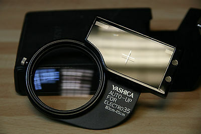 Yashica Electro 35 Close up lens adapter with original leather case