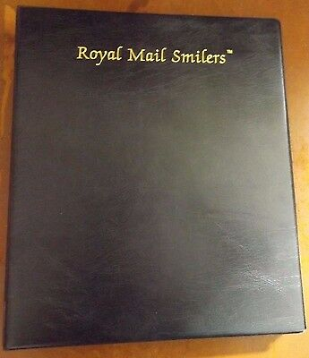 Black Royal Mail Smilers Stamp Album With 33 Pages See Photos