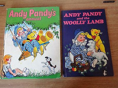 Vintage Andy Pandy's Annual 1973  and Andy Pandy & The Wooly Lamb Book 1972