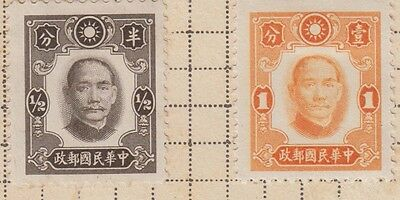 A Selection Of China Stamps  & Overprints Cut From Very Old Album  Wk10 Page 6