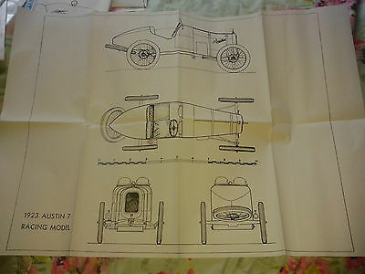 A1 plan drawing of the 1923 Austin Seven racer
