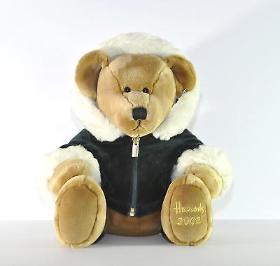 """Beautiful Harrods Cuddly Bear 2001 Collectable 14"""" Bnwt"""