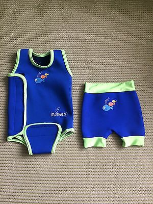 SwimBest Boy's Wetsuit & Swim Nappy 6-12 Months Baby Wrap Neoprene