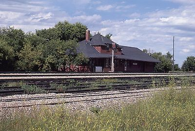 Original Kodachrome Canadian Pacific Rwys Station Bienfait, Saskatchewan 1979