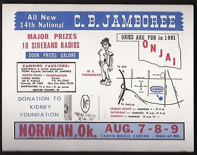 "QSL QSO RADIO CARD  ""14th National C.B.Jamboree"", Norman, OK U.S.A. (Q214)2"