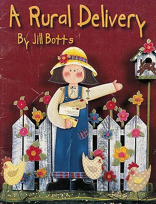 Tole Decorative Painting A Rural Delivery Jill Botts Country Angel Book