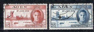 Aden.  1946.  Victory.   SG28-29.  Used.