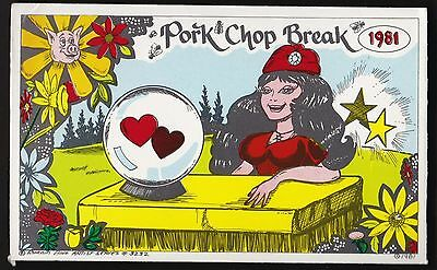 "QSL QSO RADIO CARD "" Pork Chop Break"" Runnin Bare Artist  Series #3232 (Q61)"