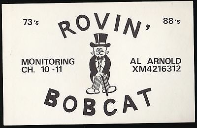 "QSL QSO RADIO CARD "" Rovin' Bobcat"", Monitoring (Q470)"