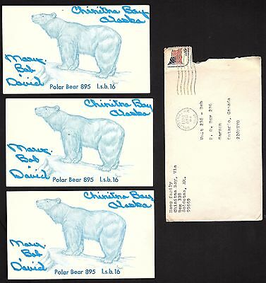 "QSL QSO RADIO CARD ""3 Haeg Family Cards/Polar Bears"", Soldotna, Alaska (Q1503)"