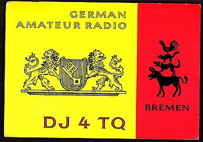 "QSL QSO RADIO CARD ""Coat of Arms,German Amateur Radio,Hans"", Bremen (Q2929)"